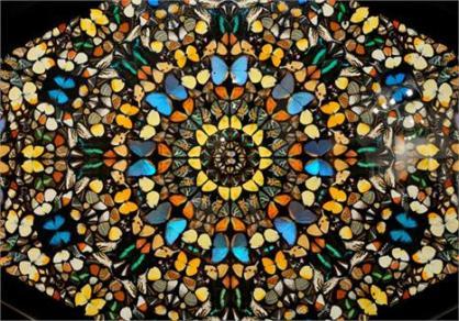 mosaico com borboletas